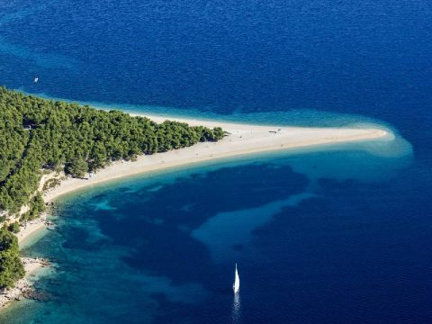Zlatni rat on Island of Brac in Croatia